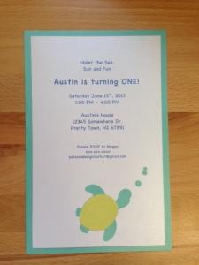 1st Birthday Invite